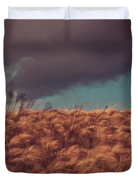 The Calm In The Storm Duvet Cover by Jessica Brawley