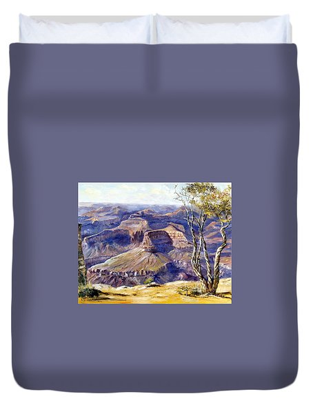 The Canyon Duvet Cover by Lee Piper