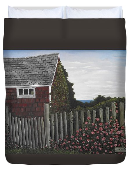 The Captain's Widow's House Duvet Cover