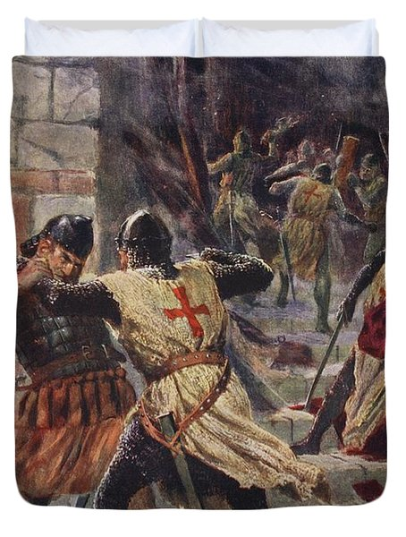 The Capture Of Constantinople Duvet Cover by John Harris Valda