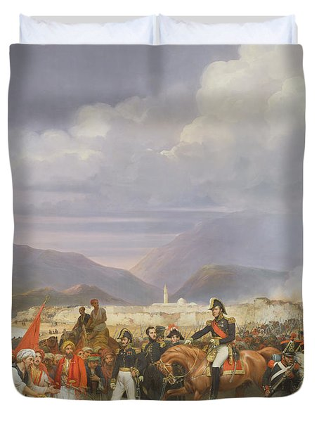The Capture Of Morea Castle, 30th October 1828, 1836 Oil On Canvas Duvet Cover