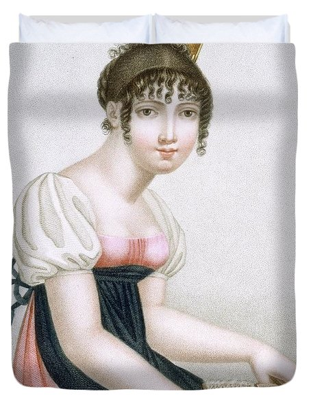 The Carder, Engraved By Augrand, C.1816 Duvet Cover