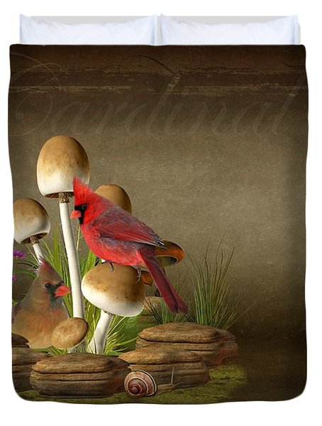 The Cardinal Duvet Cover by Davandra Cribbie