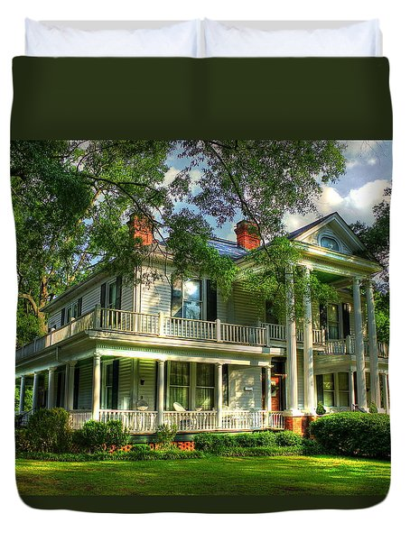 A Southern Bell The Carlton Home Art Southern Antebellum Art Duvet Cover