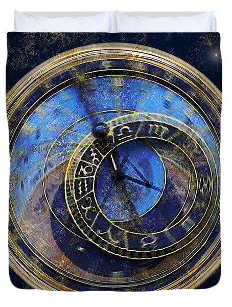 The Carousel Of Time Duvet Cover
