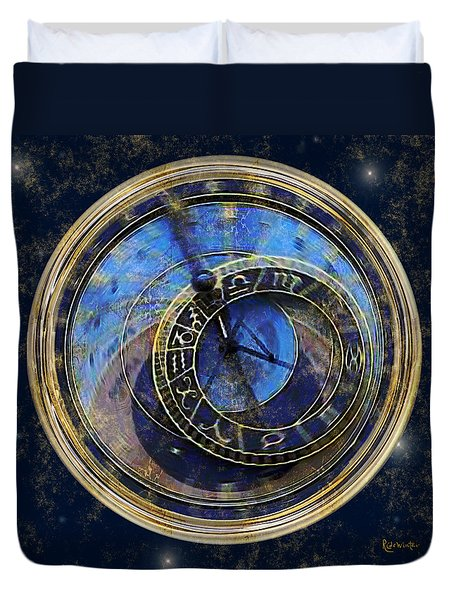 The Carousel Of Time Duvet Cover by RC deWinter