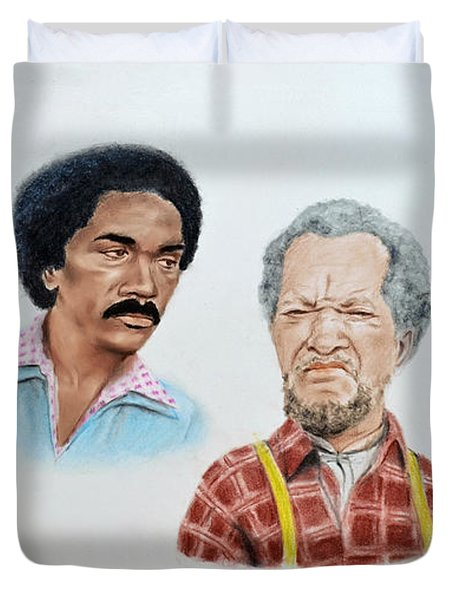 The Cast Of Sanford And Son  Duvet Cover