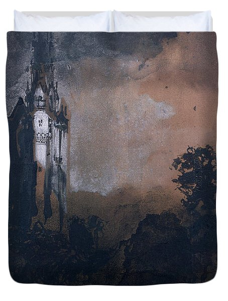 The Castle In The Moonlight  Duvet Cover by Victor Hugo