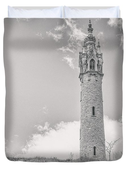 The Castle Tower Duvet Cover by Scott Norris