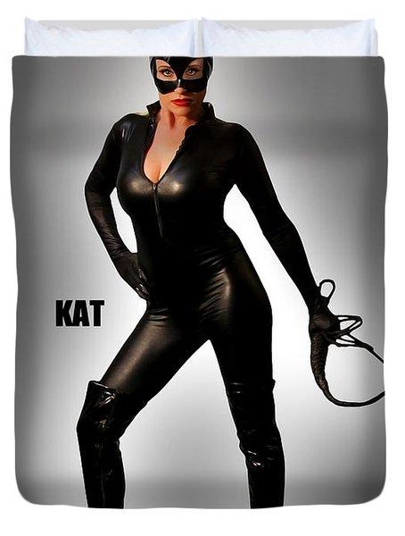 Kat Vgirl Pinup Duvet Cover