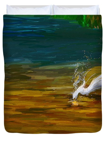 The Catch Duvet Cover by Angela A Stanton