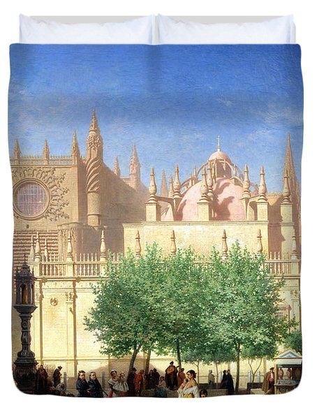 The Cathedral Of Seville Duvet Cover