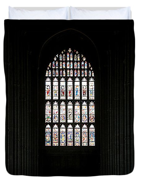 The Cathedral Sits Empty Duvet Cover by Lisa Knechtel