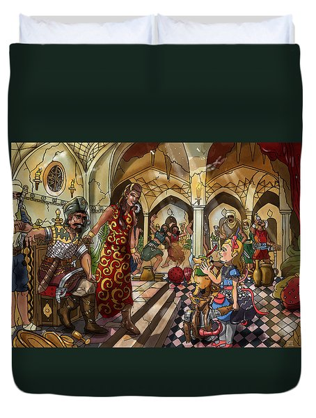 The Cave Of Ali Baba Duvet Cover by Reynold Jay