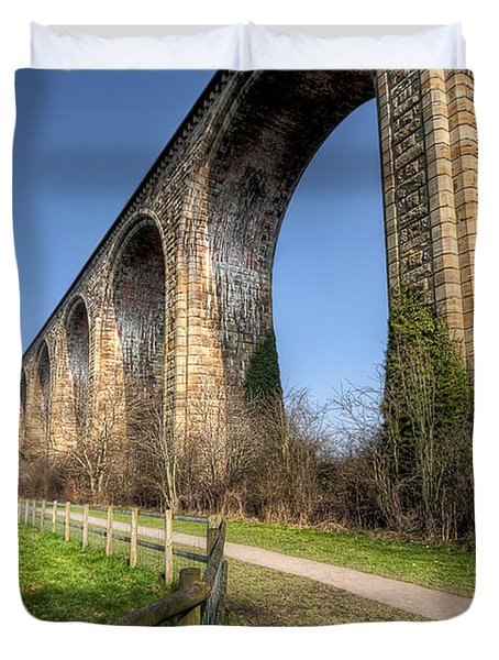The Cefn Mawr Viaduct Duvet Cover by Adrian Evans