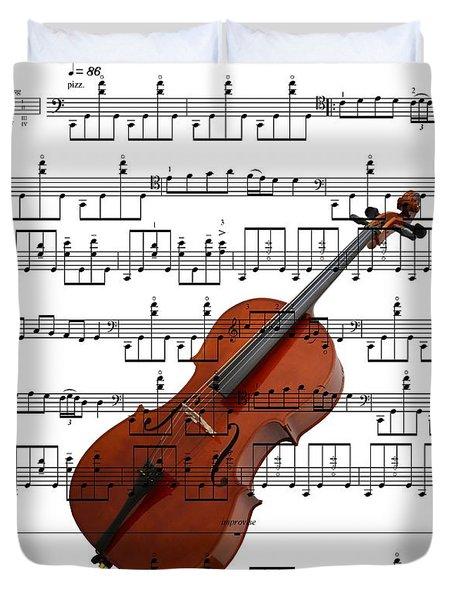 The Cello Duvet Cover by Ron Davidson