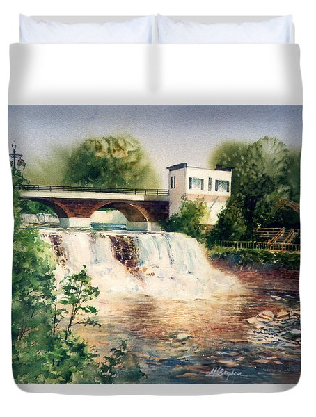 The Chagrin Falls In Summer Duvet Cover