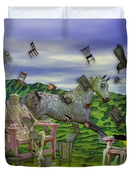 The Chairs Of Oz Duvet Cover