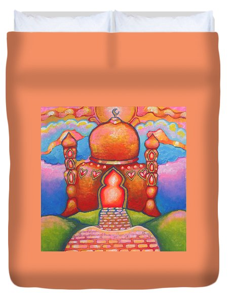 The Cheerful-happy Masjid Duvet Cover