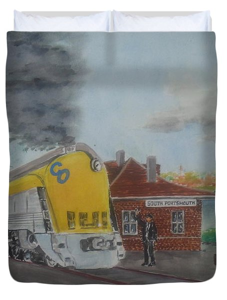 The Chesapeake And Ohio George Washington At South Portsmouth Station Duvet Cover