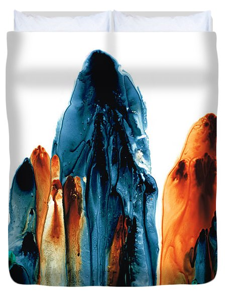 The Chosen Ones - Emotive Abstract Painting Duvet Cover by Sharon Cummings