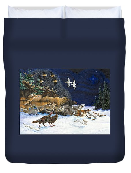The Christmas Star Duvet Cover
