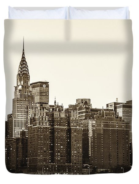 The Chrysler Building And New York City Skyline Duvet Cover by Vivienne Gucwa