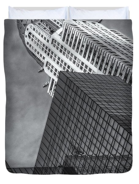 The Chrysler Building Bw Duvet Cover by Susan Candelario