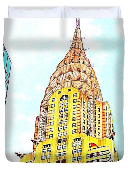 The Chrysler Building Duvet Cover by Ed Weidman