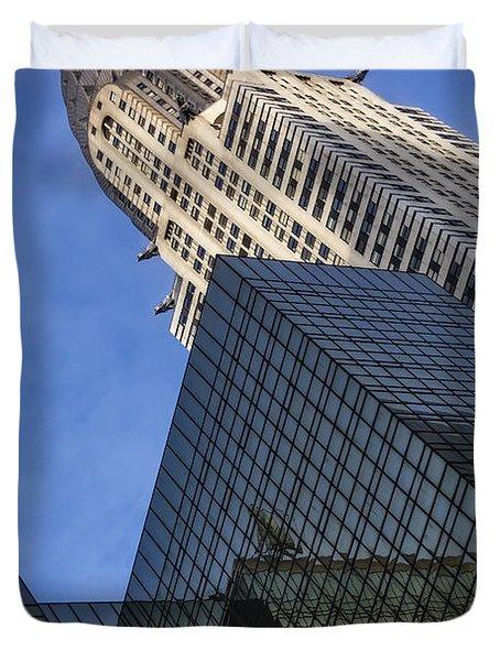 The Chrysler Building Duvet Cover by Susan Candelario