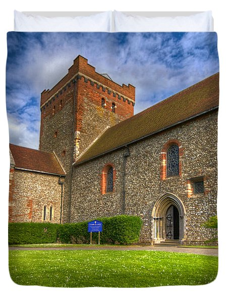 The Church At Dover Castle Duvet Cover by Tim Stanley