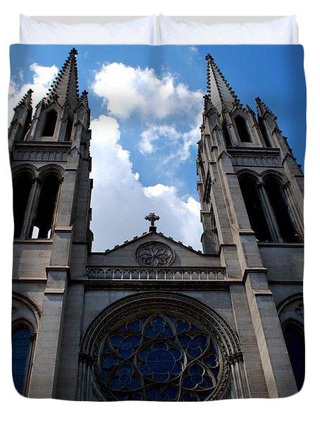 Duvet Cover featuring the photograph The Church by Matt Harang