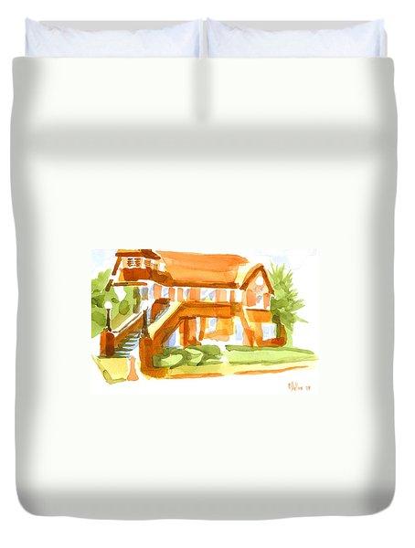 The Church On Shepherd Street Vi Duvet Cover by Kip DeVore
