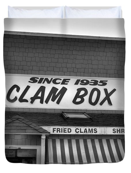 The Clam Box Duvet Cover by Joann Vitali