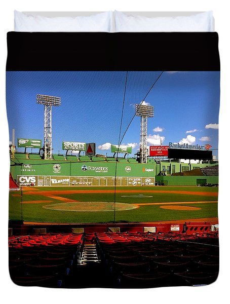 Duvet Cover featuring the photograph The Classic  Fenway Park by Iconic Images Art Gallery David Pucciarelli