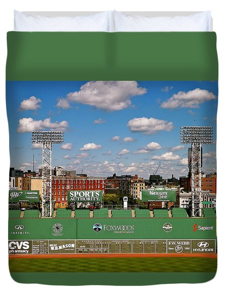 Duvet Cover featuring the photograph The Classic II Fenway Park Collection  by Iconic Images Art Gallery David Pucciarelli