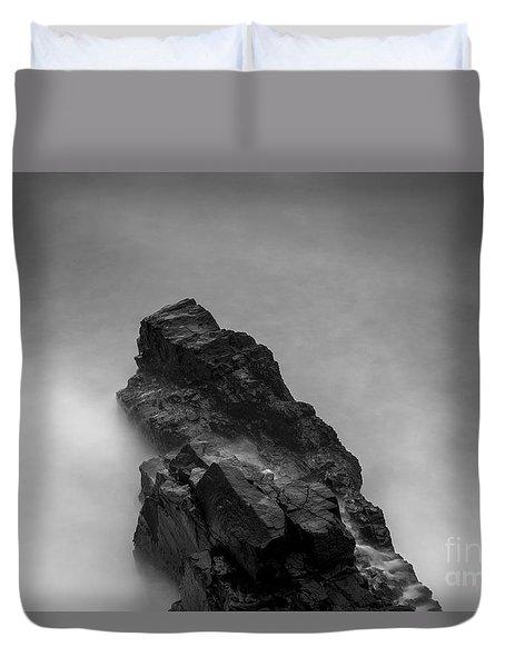 Duvet Cover featuring the photograph The Cliff by Gunnar Orn Arnason