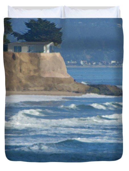 The Cliff House Duvet Cover by Deana Glenz