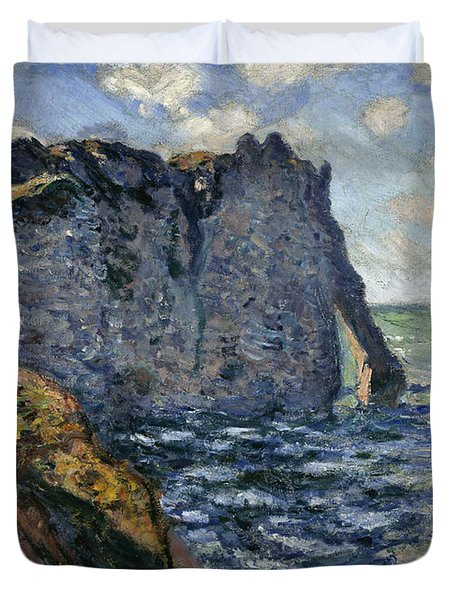 The Cliff Of Aval, Etretat, 1885 Duvet Cover