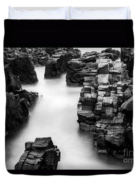 Duvet Cover featuring the photograph The Cliffs by Gunnar Orn Arnason