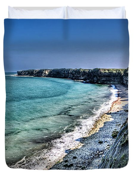 The Cliffs Of Pointe Du Hoc Duvet Cover