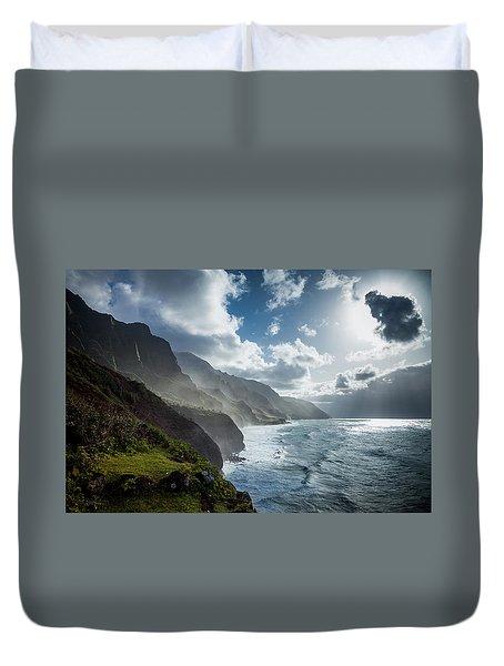 The Cliffs Of Kalalau Duvet Cover