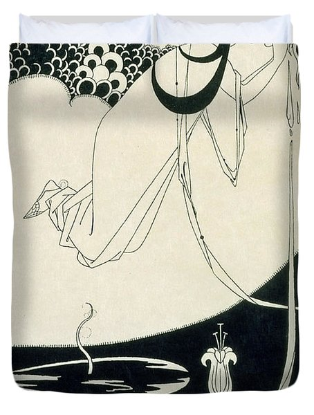The Climax Duvet Cover by Aubrey Beardsley