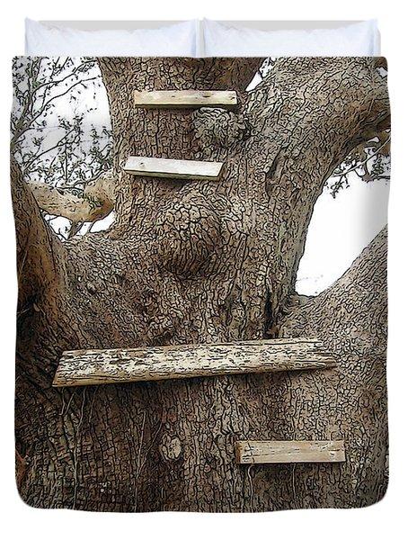 The Climbing Tree - Hurricane Katrina Survivor Duvet Cover