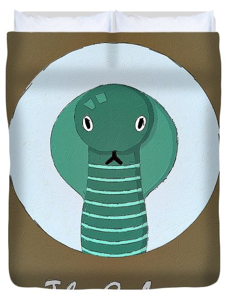 The Cobra Cute Portrait Duvet Cover
