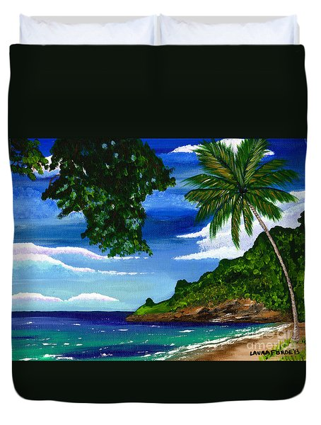 The Coconut Tree Duvet Cover