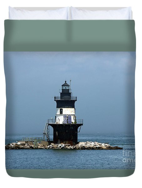 The Coffee Pot Lighthouse Duvet Cover by Christiane Schulze Art And Photography