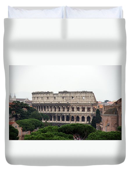 The Coliseum  Duvet Cover by Debi Demetrion