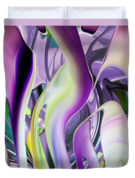 The Color Of Iris - Digital Abstract Art Duvet Cover
