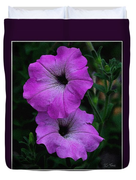 Duvet Cover featuring the photograph The Color Purple   by James C Thomas